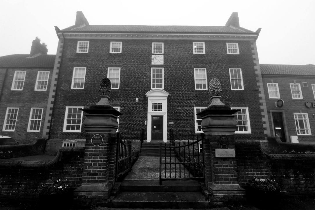 Manor House front b&w